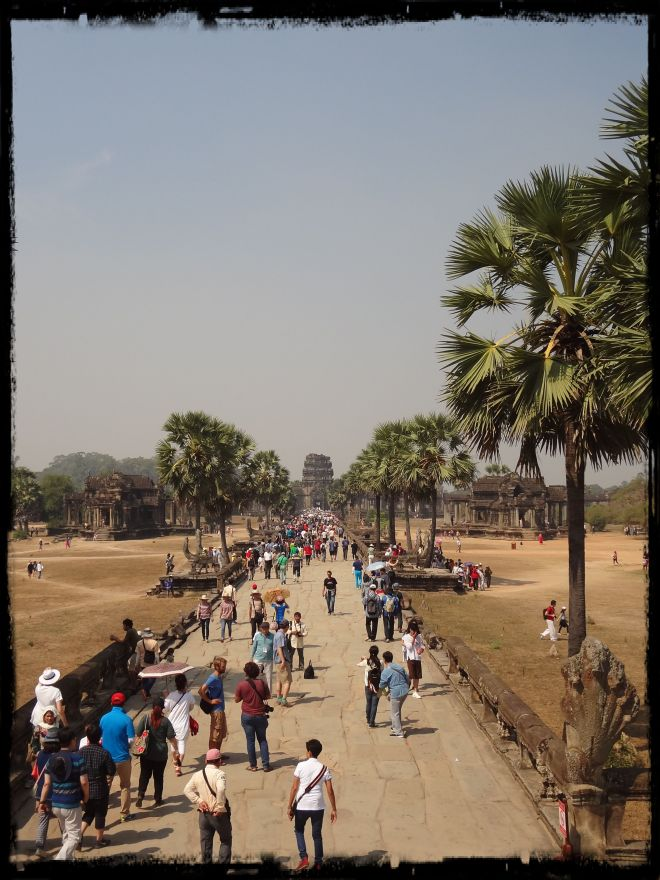 The long mile between the inner and outer walls of Angkor Wat
